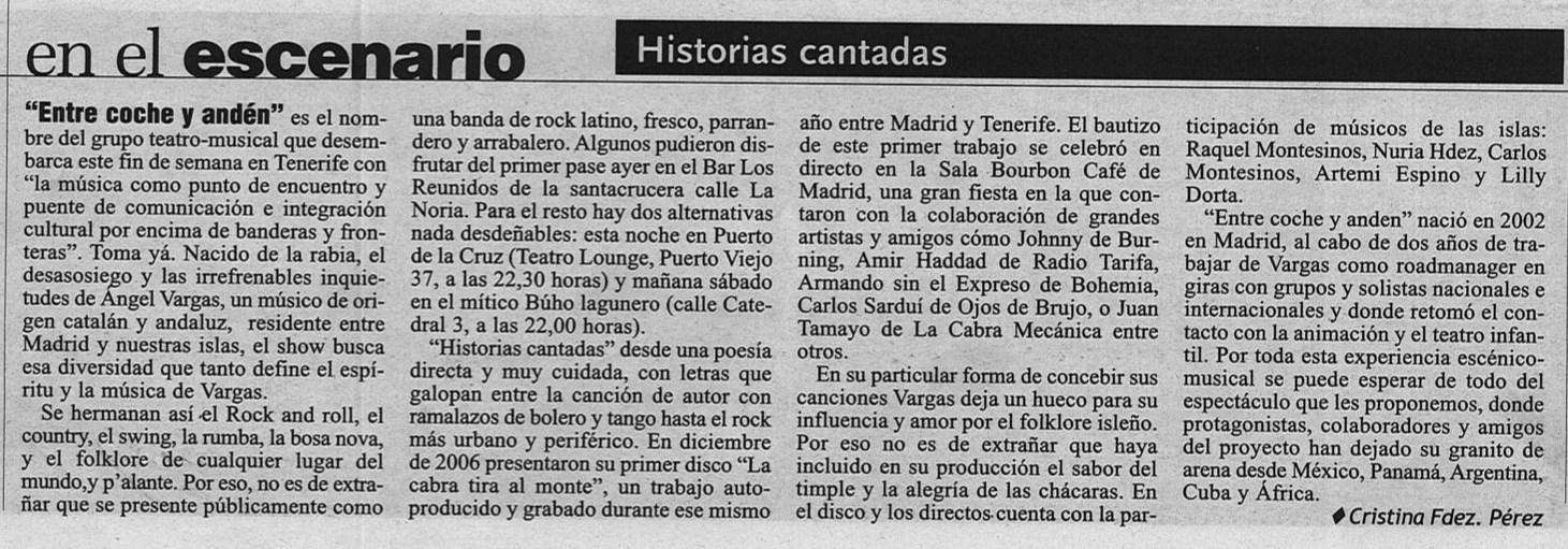 2. El Dia (Tenerife) 6 de julio de 2007
